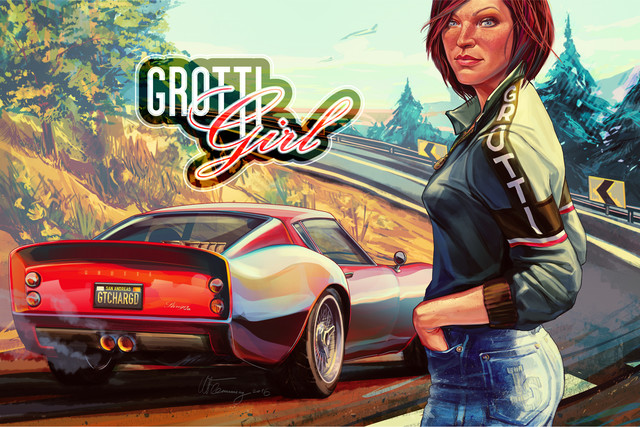 GTA 5 Grotti girl by W_Flemming