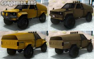 GTA V Karin Rebel 4x4 & Worn для GTA San Andreas