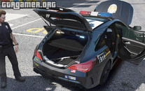 Mercedes CLA 45 AMG Shooting Brake POLICE для GTA 5